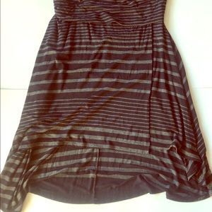 Hi-Low faux wrap skirt